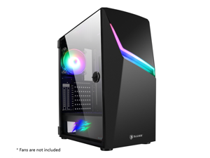 SADES NIU Computer Gaming Case With USB 3.0 Door Open Tempered Glass PC Case,  8 Fan Positions