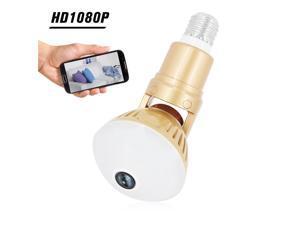 1080P 200W Bulb IP Camera 360 Degree Panoramic WiFi Wireless Camera Night Vision 2 Way Talk Motion Detection Pet Baby Camera
