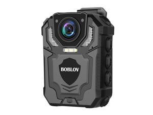 BOBLOV T5 1296P Body Camera with Audio Recording Wearable Police Body Camera for Law Enforcement, Night Vision, Loop Recording, Expand Memory Supported Max 128G