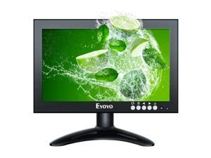 """8"""" 16:9 HDMI Monitor, 1280X720 High-Resolution IPS Full View Display Screen Support HDMI/VGA/AV/BNC/SPEAK Input Built-in Speakers for PC TV CCTV Camera Security Raspberry pi Computer Drone Microscope"""