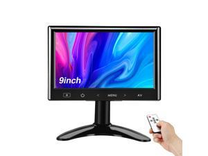 9''LCD TFT Monitor 140° for Car Office Home Security HDMI VGA with Remote Control