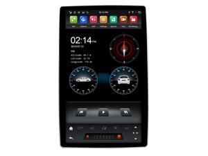 """12.8"""" Rotation IPS screen PX6 Tesla Style android 8.1 double 2 din car universal gps multimedia radio No DVD player wifi usb"""