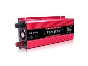 Inverter 12v 220v 2000W Car Inverters Voltage Transformer Car Converter 12 to 220 Solar Inverter Auto Power Inversor Charger