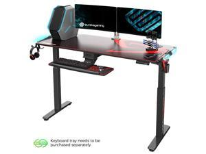Eureka Ergonomic Gaming Height Adjustable General Series EGD-S62B Standing E-sport Desk with RGB Lighting, Black