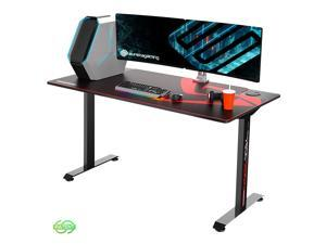 Eureka Ergonomic 2 Person Racing Gaming Desk Large Gamer Table (5ft Long 27.6in Wide), T-Shaped Office PC Computer Desk with Full-Size Mouse Pad, Popular Gift for Son/Boyfriend/E-Sports Lover
