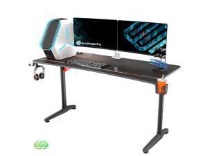 "Eureka Ergonomic® Gaming Desk 60"" Home Office Computer Desk, New Polygon Legs Design, Captain Series, Black"