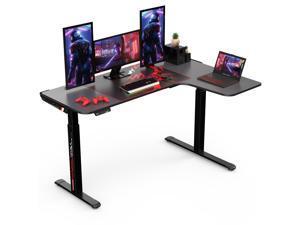 "Eureka Ergonomic® L Shaped Standing Desk 61"", Electric Height Adjustable Stand Up Desk for Home Office Workstation, Black - Right Hand"