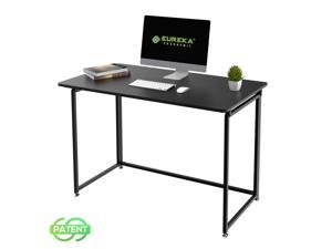"""Eureka Ergonomic® 43"""" Modern Folding Computer Desk, Teen Student Dorm Study Desks, Easy to be Folded Writing Desk, No Assembly Required, Home and Office, Black"""