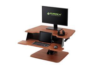 Eureka Ergonomic® Height Adjustable Sit Stand Desk - 31.5 Inch, Cherry