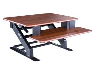 Eureka Ergonomic® Height Adjustable Standing Desk Converter, 32 Inch - Cherry