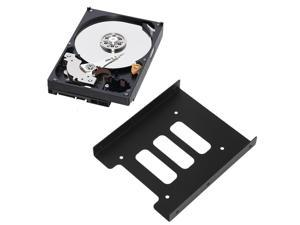 2.5 Inch to 3.5 Inch SSD HDD Metal Adapter Mounting Bracket Hard Drive Holder for PC Laptop Black Hard Disk Drive