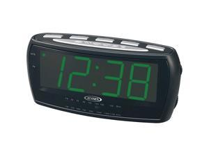 Jensen Compact AM_FM Alarm Clock Radio with Large Easy to Read Backlit LED Display