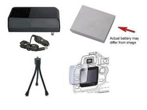 CB_2LY   NB_6L Comptatible High Capacity Battery And Rapid Charger Kit   Mini Tripod   Screen Protector