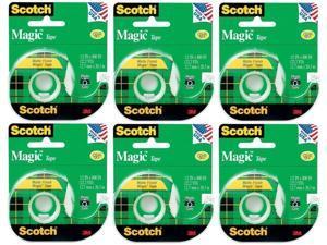 Scotch 3M 119 Magic Tape, 1/2 x 800 Inches Pack of 6 Rolls