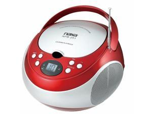 Naxa Portable CD Player with AM_FM Stereo Radio_ Red