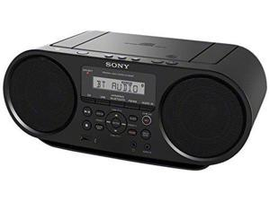Sony Portable Bluetooth Digital Tuner AM_FM Radio Cd Player Mega Bass Reflex Stereo Sound System Plus FSM 6ft Aux Cable to Co