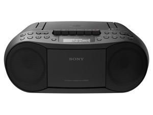 Sony CFDS70_BLK CD_MP3 Cassette Boombox Home Audio Radio, Black