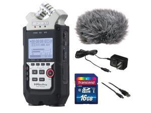 Zoom H4n Pro 4_Channel Handy Recorder Bundle with Custom Windbuster for Zoom H4n, AC Adapter, A Male to Type B Mini Male Cabl