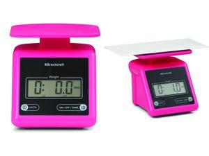 Brecknell PS7 Electronic Portable Postal Scale 7 lb x 0.5 oz, Dual,Package of 2 scales Pink