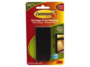 Command Picture Hanging Strips, Large, Black, 4Strips  17206BLKES