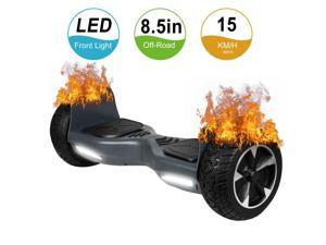 Felimoda Off Road Hover Board, All Terrain Rugged Hoverboard, 8.5 Inch Two-Wheel Self Balancing Hoverboard Electric Scooter for Adult Kids Gift UL2272 Certified (Gray)