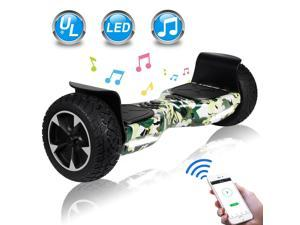 Felimoda Off Road Hover Board, All Terrain Rugged Hoverboard, 8.5 Inch Two-Wheel Self Balancing Hoverboard Electric Scooter for Adult Kids Gift with Bluetooth UL2272 Certified (Camouflage color)
