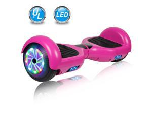 """Felimoda Hoverboard 6.5"""" Two-Wheel Self Balancing Hoverboard without Free Carry Bag for Adult Kids Gift UL 2272 Certified Purple"""