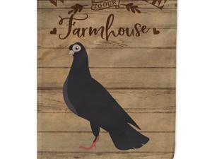 Carolines Treasures CK6891CHF Budapest Highflyer Pigeon Welcome Canvas House Flag - 28 x 0.01 x 40 in.