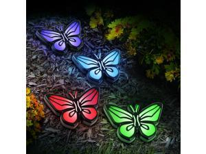 Solar Path Lights - Paw, Butterfly, or Daisy (Set of 4)