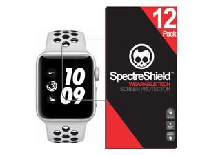 [12-Pack] Spectre Shield Screen Protector for Apple Watch 38mm / 42mm (Series 3 2 1) iWatch Case Friendly Apple Watch 38mm 42mm Series 3 Screen Protector Accessory TPU Clear Film