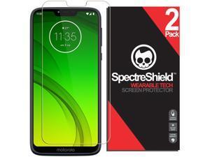 [2-Pack] Spectre Shield Screen Protector for Motorola Moto G7 Power Case Friendly Motorola Moto G7 Power Screen Protector Accessory TPU Clear Film