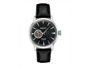 Seiko Presage SSA359 41mm Black Sunray Dial Automatic Leather Men's Watch