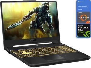 "ASUS TUF A15 Gaming Notebook, 15.6"" FHD Display, AMD Ryzen 7 4800H Upto 4.2GHz, 16GB RAM, 512GB NVMe SSD, NVIDIA GeForce RTX 2060, HDMI, DisplayPort via USB-C, Wi-Fi, BT, Windows 10 Home"