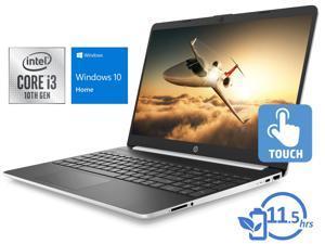"HP 15 Notebook, 15.6"" HD Touch Display, Intel Core i3-1005G1 Upto 3.4GHz, 8GB RAM, 256GB SSD, HDMI, Card Reader, Wi-Fi, Bluetooth, Windows 10 Home S"