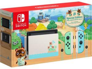 Nintendo Switch - Animal Crossing: New Horizons Edition | Switch console| Switch dock| Joy-Con (L) and Joy-Con (R)| Joy-Con wrist straps | Special Edition