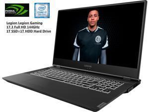 "Newest Lenovo Legion 17.3"" FHD 144Hz IPS Gaming Laptop| Virtual Reality Ready l Intel Core i7-9750H 6 Core| NVIDIA GeForce GTX1660Ti 6GB |16GB DDR4| 1TB M.2 SSD+1TB HDD| Backlit Keyboard | Windows 10"