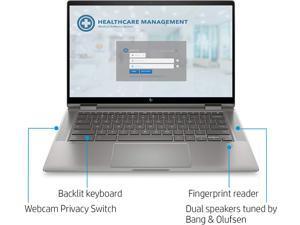 2020 Newest HP x360 2-in-1 14-inch FHD Touchscreen Chromebook/Intel Core i3-10110U/8GB RAM/64GB eMMC/Backlit Keyboard/Fingerprint Reader/Mineral Silver