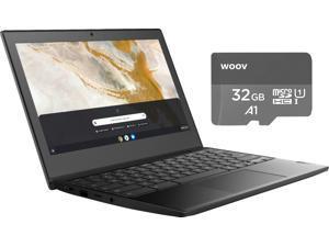 "New HP 14"" FHD Chromebook| Intel Celeron Processor| Intel UHD Graphics 600| 4GB Memory| 32GB eMMC Flash Memory| Chrome OS| Bundle Woov 32GB MicroSD Card"