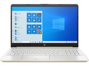"New HP 15.6"" HD Laptop | Intel Quad Core i5-1035G1 | Intel UHD Graphics | 12GB RAM | 512GB SSD | WiFi | Bluetooth | Windows 10 Home | Gold"