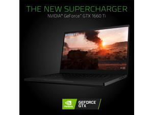 "Razer Blade 15 Gaming Laptop: Intel Core i7-9750H 6 Core, NVIDIA GeForce GTX 1660 Ti, 15.6"" FHD 144Hz, 16GB RAM, 256GB SSD, CNC Aluminum, Chroma RGB Lighting, Thunderbolt 3, 9th Gen i7-9750H"