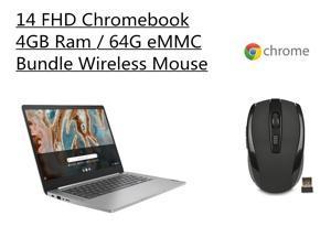 "New Lenovo Chromebook 3 14""FHD Laptop   Mediatek MT8183 Processor   4G Memory   64GB eMMC   Arctic Grey   Chrome OS   Bundle with Woov Wireless Mouse"