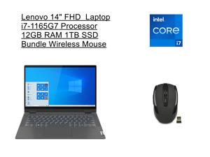 "New Lenovo Flex 14"" FHD 2-in-1 Touchscreen Laptop | Intel Core i7-1165G7 Processor | 12GB RAM | 1TB SSD | Backlit Keyboard | Fingerprint | Windows 10 Home | Bundle with Wireless Mouse"