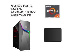 New ASUS ROG Strix Gaming Desktop   AMD Ryzen 7 5700G Processor   NVIDIA GeForce RTX 2060 Super   16GB RAM   256GB SSD +1TB HDD   Windows 10 Home  Bundle with Mouse Pad