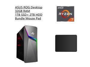 New ASUS ROG Strix Gaming Desktop   AMD Ryzen 7 5700G Processor   NVIDIA GeForce RTX 2060 Super   32GB RAM   1TB SSD +2TB HDD   Windows 10 Home  Bundle with Mouse Pad