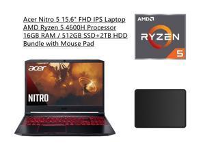 "New Acer Nitro 5 15.6"" FHD IPS 60Hz Display Laptop | AMD Ryzen 5 4600H Processor | NVIDIA GeForce GTX 1650 | 16GB RAM | 512GB SSD+2TB HDD | Backlit Keyboard | Windows 10 | Bundle with Mouse Pad"