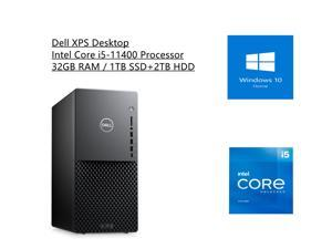 New Dell XPS Desktop   Intel Core i5-11400 Processor    Integrated Intel UHD Graphics 730   32GB RAM   1TB SSD+2TB HDD   Windows 10 Home