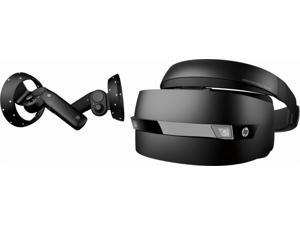 HP 2018 Newest Techknowledge Windows Mixed/ Reality Headset with Wireless Motion Controllers (Compatible w/ Windows Gaming PCs), HD Liquid Crystal displays, Inside-Out Cameras, HDMI