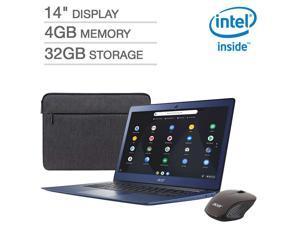 "2019 Newest Acer Premium Flagship 14"" Full HD Chromebook Bonus Wireless Mouse&Sleeve | Intel Celeron N3160 Processor |4GB RAM| 32GB eMMC Storage |HDMI| Webcam |Bluetooth | Chrome OS| Stellar Blue"