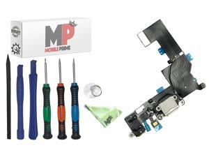 iPhone SE White Charging Charge Port Flex Cable Prime Repair Kit with Certified Professional Repair Tools- MOBILEPRIME
