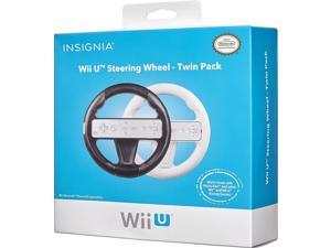 INSIGNIA Wii U Steering Wheel - Twin Pack - Black & White